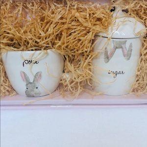 Rae Dunn Easter Gift Set Sugar and Creamer New